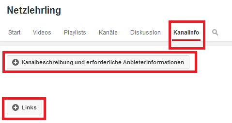Youtube-Kanalinfo