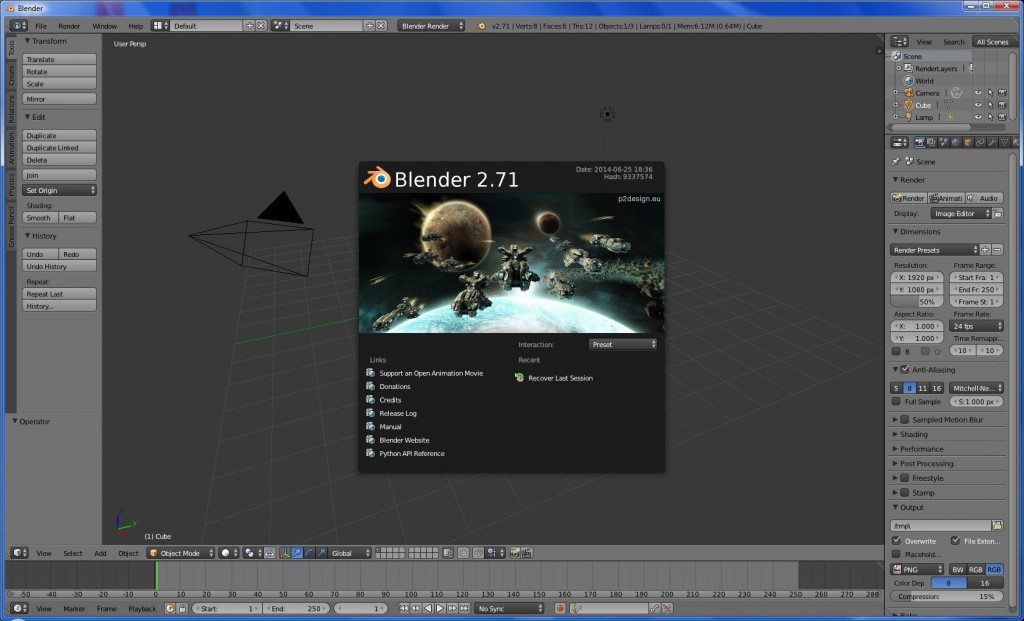 Blender 3D Graphik Software