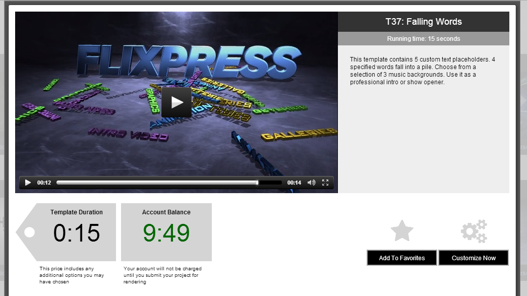 Flixpress: VideoTemplate Anpassung